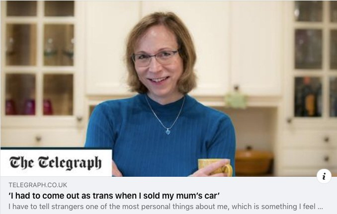 My national newspaper article about being forced to come out to a car dealer
